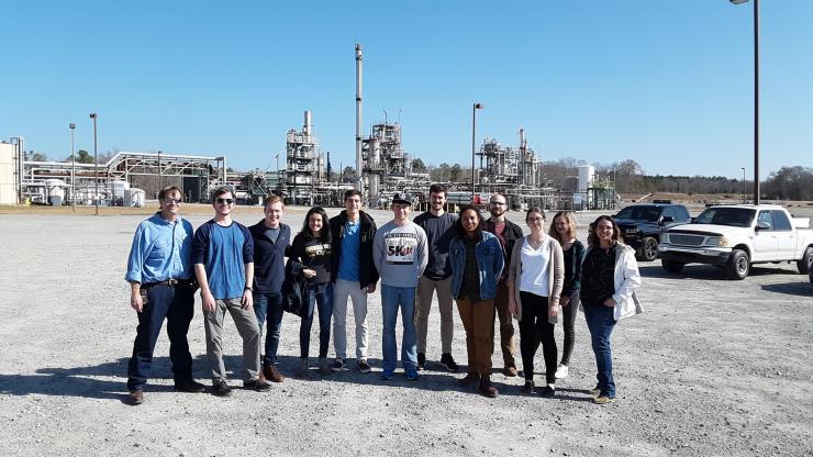 Renewable biochemistry students tour the LanzaTech biorefinery