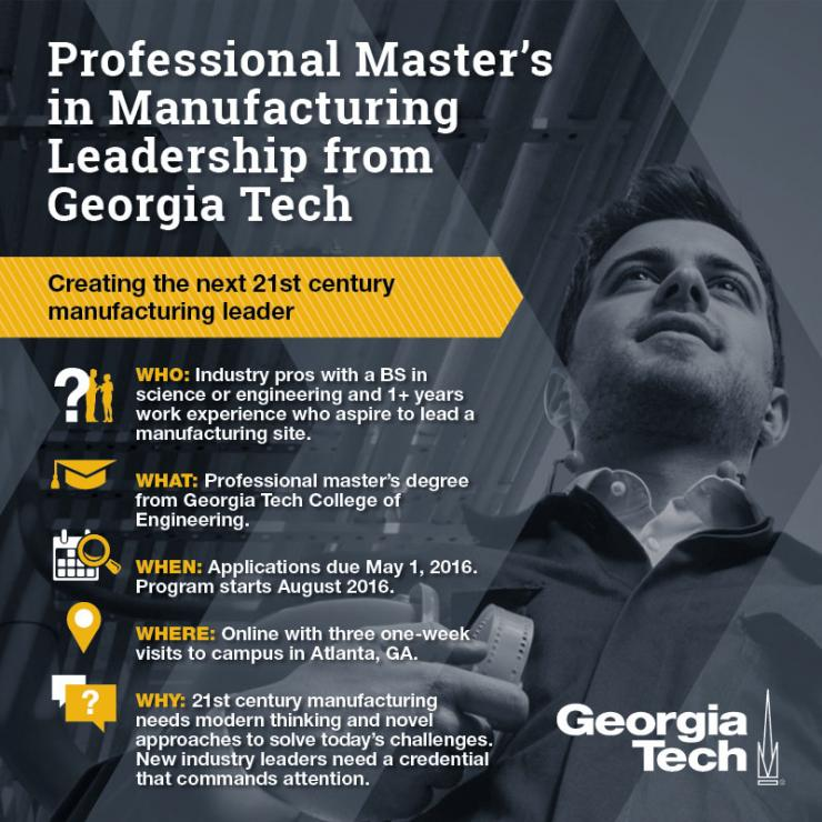 Professional Master's in Manufacturing Leadership