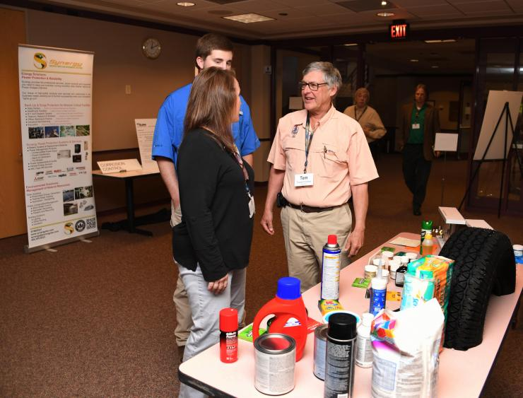 Temple Fontaine manning his booth at the recent Recovery Cycle meeting