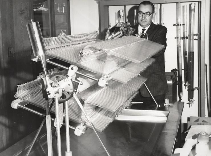 Irwin Pearl in Lab