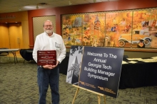 Jerry Nunn with GT's 'Building Manager of the Year' award